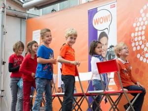 Schlaue Kids beim Kinderquiz mit Ratte Rolf Rüdiger
